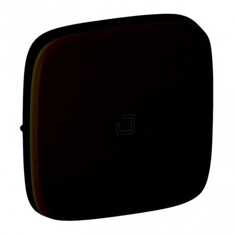 Лицевая панель выключателя 1-клавишного с подсветкой, цвет черный, Valena Allure, Legrand