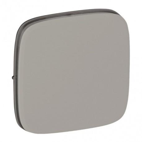 Лицевая панель выключателя 1-клавишного, цвет алюминий, Valena Allure, Legrand 755007
