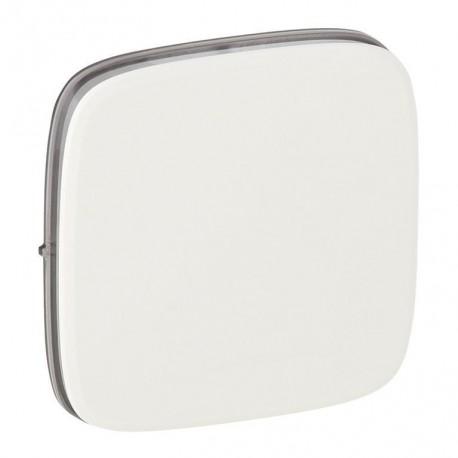 Лицьова панель вимикача 1-клавішного, колір білий, Valena