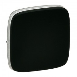 Лицьова панель вимикача 1-клавішного, колір чорний, Valena