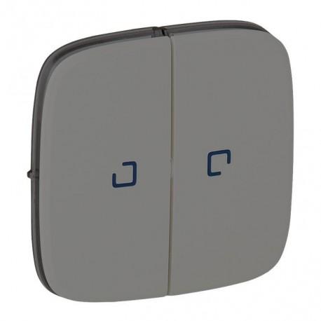Лицьова панель вимикача 2-клавішного з підсвічуванням, колір