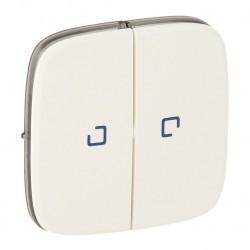 Лицевая панель выключателя 2-клавишного с подсветкой, цвет перламутр, Valena Allure, Legrand