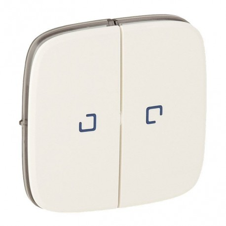 Лицевая панель выключателя 2-клавишного с подсветкой, цвет перламутр, Valena Allure, Legrand 755229