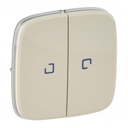 Лицевая панель выключателя 2-клавишного с подсветкой, цвет слоновая кость, Valena Allure, Legrand 755226