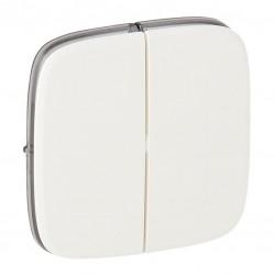 Лицевая панель выключателя 2-клавишного, цвет белый, Valena Allure, Legrand 755025