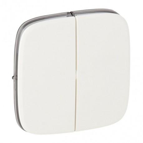 Лицьова панель вимикача 2-клавішного, колір білий, Valena