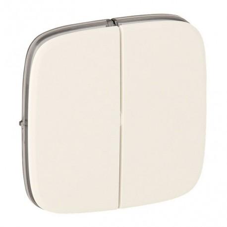 Лицевая панель выключателя 2-клавишного, цвет перламутр, Valena Allure, Legrand 755029