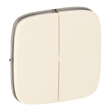 Лицевая панель выключателя 2-клавишного, цвет слоновая кость, Valena Allure, Legrand 755026