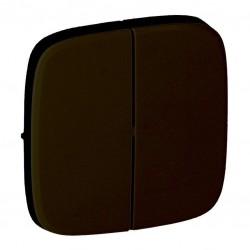 Лицьова панель вимикача 2-клавішного, колір чорний, Valena
