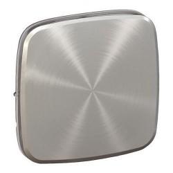 Лицевая панель выключателя 1-клавишного, цвет светлая нержавеющая сталь, Valena Allure, Legrand 755013