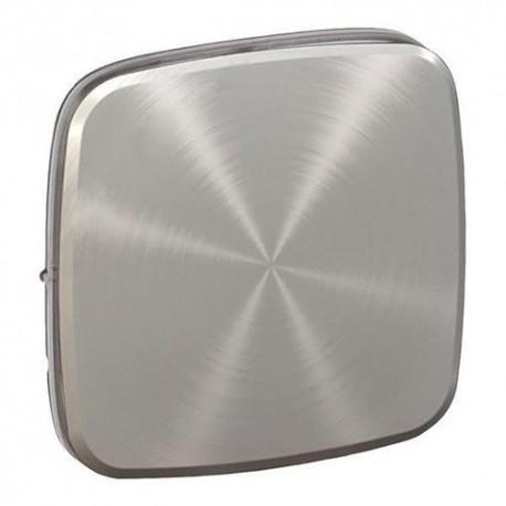 Лицевая панель выключателя 1-клавишного, цвет светлая нержавеющая сталь, Valena Allure, Legrand