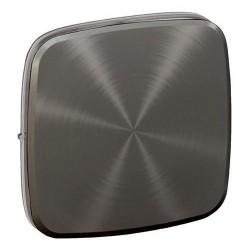 Лицевая панель выключателя 1-клавишного, цвет темная нержавеющая сталь, Valena Allure, Legrand 755113