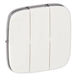 Лицьова панель вимикача 3-клавішного, колір білий, Valena