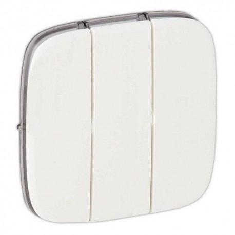 Лицевая панель выключателя 3-клавишного, цвет белый, Valena Allure, Legrand 755035