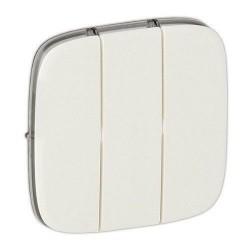 Лицевая панель выключателя 3-клавишного, цвет перламутр, Valena Allure, Legrand 755039