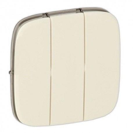 Лицевая панель выключателя 3-клавишного, цвет слоновая кость, Valena Allure, Legrand 755036