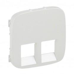 Лицьова панель подвійний розетки RJ11, RJ45, колір білий
