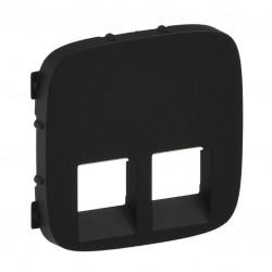 Лицевая панель двойной розетки RJ11, RJ45, цвет черный, Valena Allure, Legrand