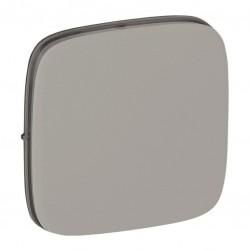 Лицевая панель переключателя промежуточного 1-клавишного, цвет алюминий, Valena Allure, Legrand 755077
