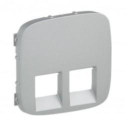 Лицевая панель розетки акустической двойной, цвет алюминий, Valena Allure, Legrand 755377