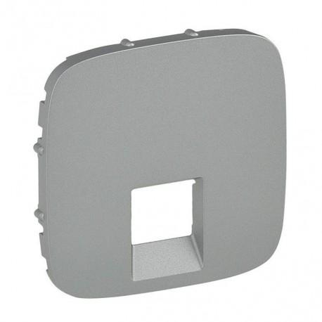 Лицьова панель розетки акустичної одинарної, колір алюміній