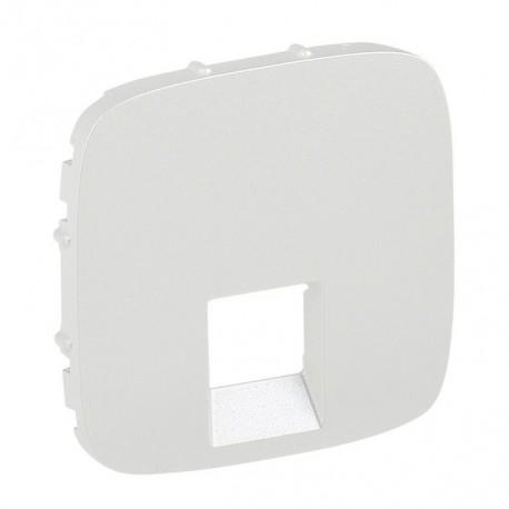 Лицевая панель розетки компьютерной RJ11, RJ45, одинарной, цвет белый, Valena Allure 755415