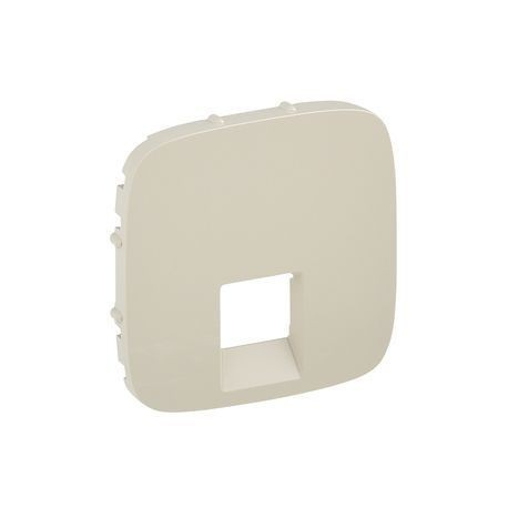 Лицевая панель розетки компьютерной RJ11, RJ45, одинарной, цвет слоновая кость, Valena Allure 755416