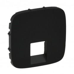 Лицевая панель розетки компьютерной RJ11, RJ45, одинарной, цвет черный, Valena Allure 755418