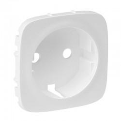 Лицьова панель розетки із заземленням, колір білий, Valena