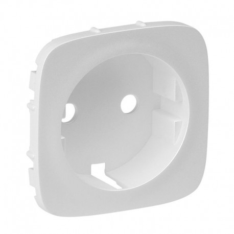 Лицевая панель розетки с заземлением, цвет перламутр, Valena Allure, Legrand 755209