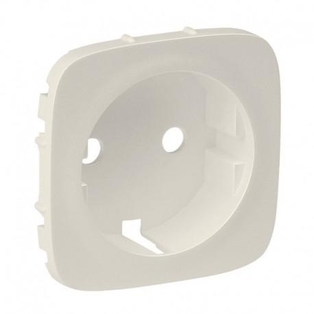 Лицевая панель розетки с заземлением, цвет слоновая кость, Valena Allure, Legrand 755206