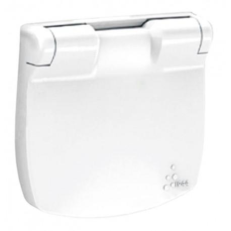 Лицевая панель розетки с крышкой, цвет белый, Valena Allure, Legrand 754845