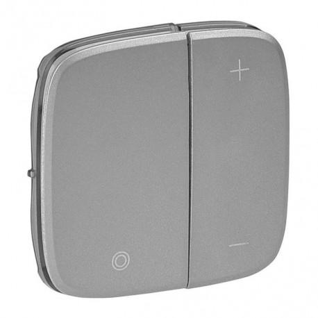 Лицевая панель светорегулятора кнопочного, цвет алюминий, Valena Allure, Legrand 752087