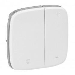 Лицьова панель світлорегулятора кнопкового, колір білий, Valena