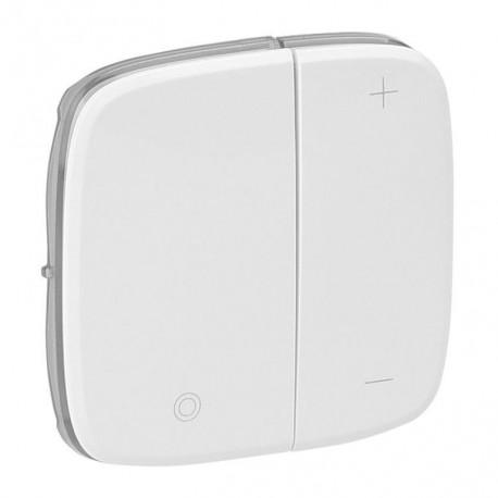 Лицевая панель светорегулятора кнопочного, цвет белый, Valena Allure, Legrand 752085