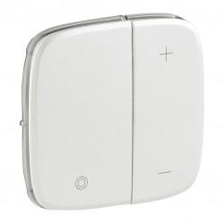 Лицевая панель светорегулятора кнопочного, цвет перламутр, Valena Allure, Legrand 752089