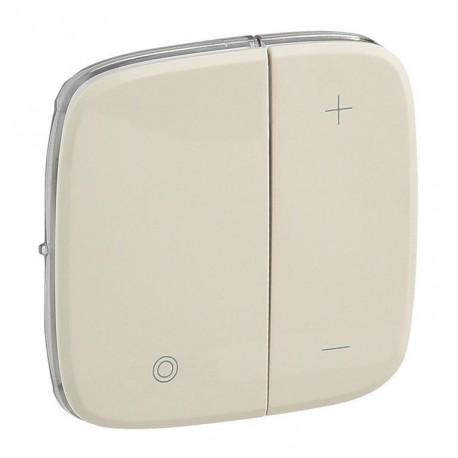 Лицевая панель светорегулятора кнопочного, цвет слоновая кость, Valena Allure, Legrand 752086