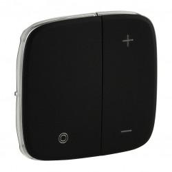 Лицьова панель світлорегулятора кнопкового, колір чорний