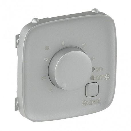 Лицьова панель термостата для теплих підлог, колір алюміній