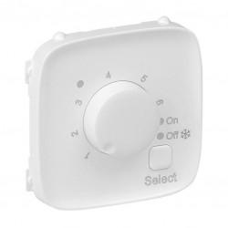 Лицьова панель термостата для теплих підлог, колір білий