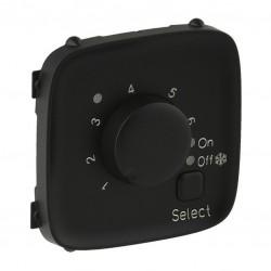 Лицьова панель термостата для теплих підлог, колір чорний