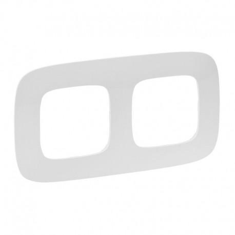 Рамка 2-я цвет белый, Valena Allure 754302