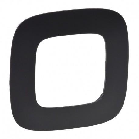 Рамка 1-я цвет матовый черный, Valena Allure 754401