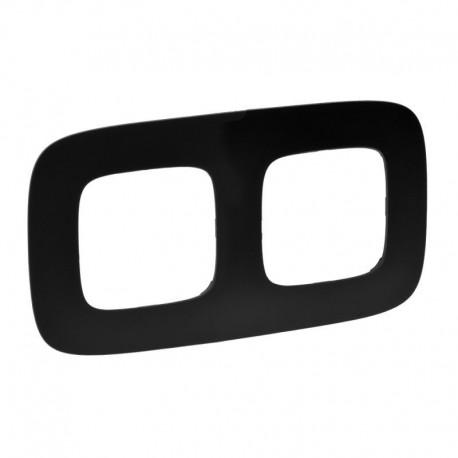 Рамка 2-я цвет матовый черный, Valena Allure 754402