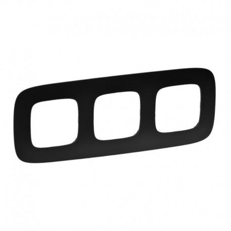 Рамка 3-я цвет матовый черный, Valena Allure 754403