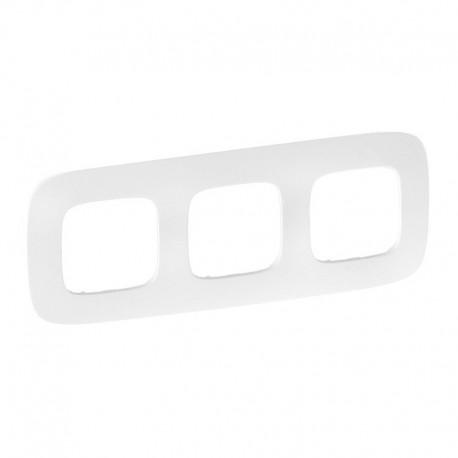 Рамка 3-я цвет тиснение белое, Valena Allure 754373