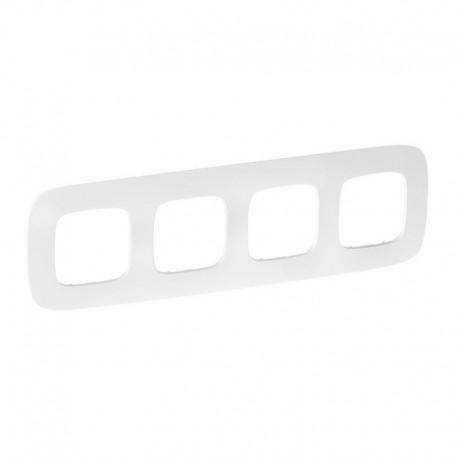 Рамка 4-я цвет тиснение белое, Valena Allure 754374