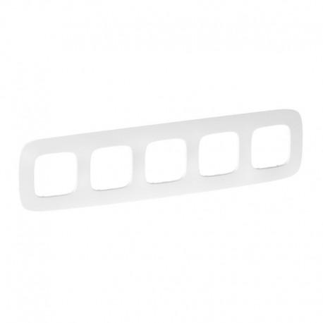 Рамка 5-я цвет тиснение белое, Valena Allure 754375