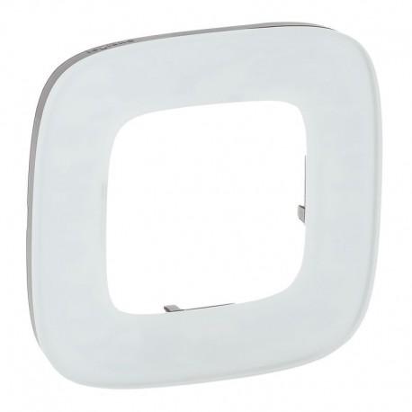 Рамка 1-я цвет белое стекло, Valena Allure 755541