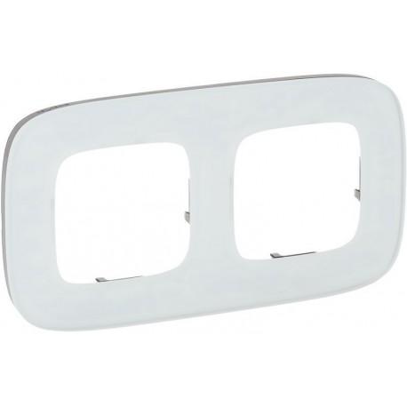 Рамка 2-я цвет белое стекло, Valena Allure 755542